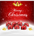 christmas balls in snow vector image