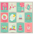 collection 12 spring card templates vector image