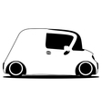 contour silhouette mini future car vector image vector image