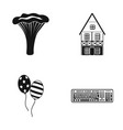 cooking house and other web icon in black style vector image vector image
