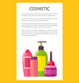 cosmetic for skincare and hygiene maintenance vector image vector image