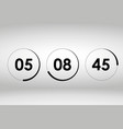 countdown web site template vector image vector image