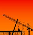 crane silhouette vector image