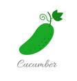 cucumber icon with title vector image