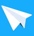 electronic library icon paper plane messenger vector image