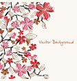 floral background can be used for wallpaper post vector image vector image