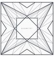 Geometric line frame vector image