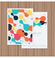 Greeting card with abstract background on a wooden vector image