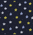 hand drawn stars seamless pattern fantasy vector image