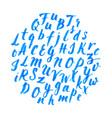 hand drawn vintage alphabet vector image