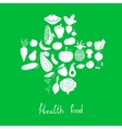 Health food icons vector image