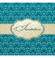 invitation art frame package label vintage with vector image