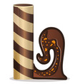 letter l candies chocolate vector image vector image