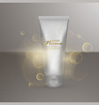 luxury cosmetic template for ads realistic 3d vector image