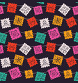 mexico party paper flag cartoon seamless pattern vector image