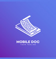 mobile doc logo vector image vector image