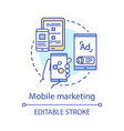 mobile marketing concept icon digital marketing vector image vector image