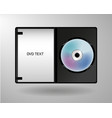music cd dvd disk technology isolated white vector image