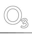 ozone icon design vector image vector image