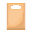 paper bag with handle in colorful silhouette over vector image vector image
