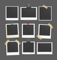 photo frame set realistic paper photograph vector image
