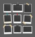 photo frame set realistic paper photograph vector image