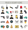 police security and crime icons set vector image vector image
