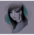 portrait a lady vector image vector image