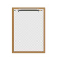 realistic clipboard with pencils vector image