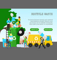 recycle garbage save ecology concept banner vector image vector image