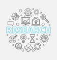 research round outline vector image vector image