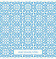 seamless arabic pattern blue vector image vector image