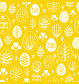 seamless minimal easter pattern with eggs vector image vector image