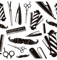 seamless pattern for barber shop vector image