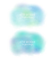set of 2 bright stains pseudo watercolor vector image