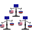 set of EU scales vector image vector image