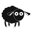 shocked sheep icon simple style vector image vector image