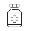 simple linear pill bottle icon pharmacy vector image