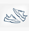 sneakers one line design element isolated vector image