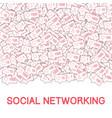 social media icons social networking concept vector image