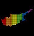 spectrum dotted lgbt cyprus map vector image