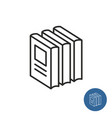stack books standing print circulation icon vector image