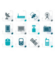 stylized technology and communications icons vector image vector image