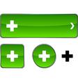Switzerland button set vector image vector image