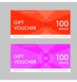 Template gift voucher with abstract pattern vector image