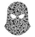 terrorist balaklava collage of triangles vector image vector image