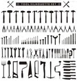 Tool Silhouette Set vector image