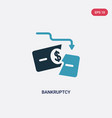 two color bankruptcy icon from law and justice vector image