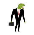 tyrannosaurus businessman dinosaur is boss dino vector image