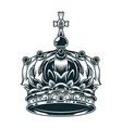 vintage ornate royal crown concept vector image vector image